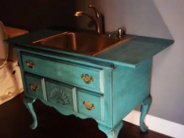 Repurpose-furniture-into-a-sink