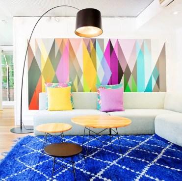 Cobalt-blue-carpet-geometric-wall-art