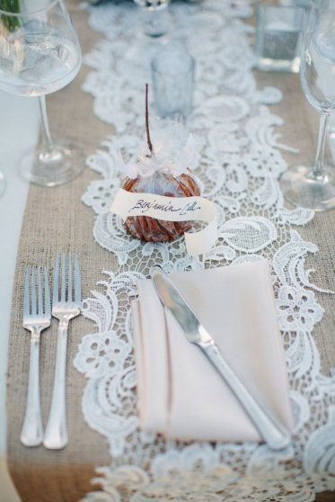 Lace-and-burlap-wedding-table-runners-stylish-table-decorating-ideas