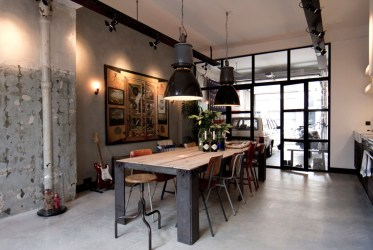 Wood-and-metal-dining-table