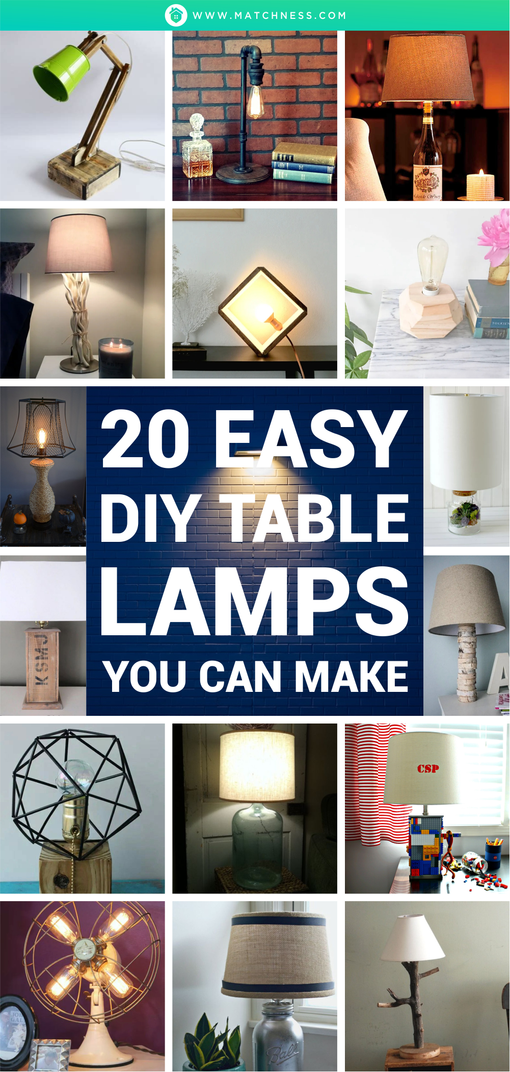 20 easy diy table lamps you can make1