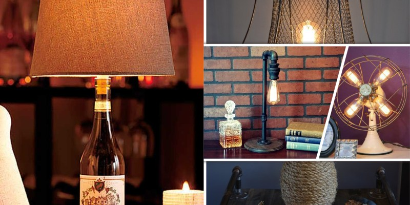 20 easy diy table lamps you can make2