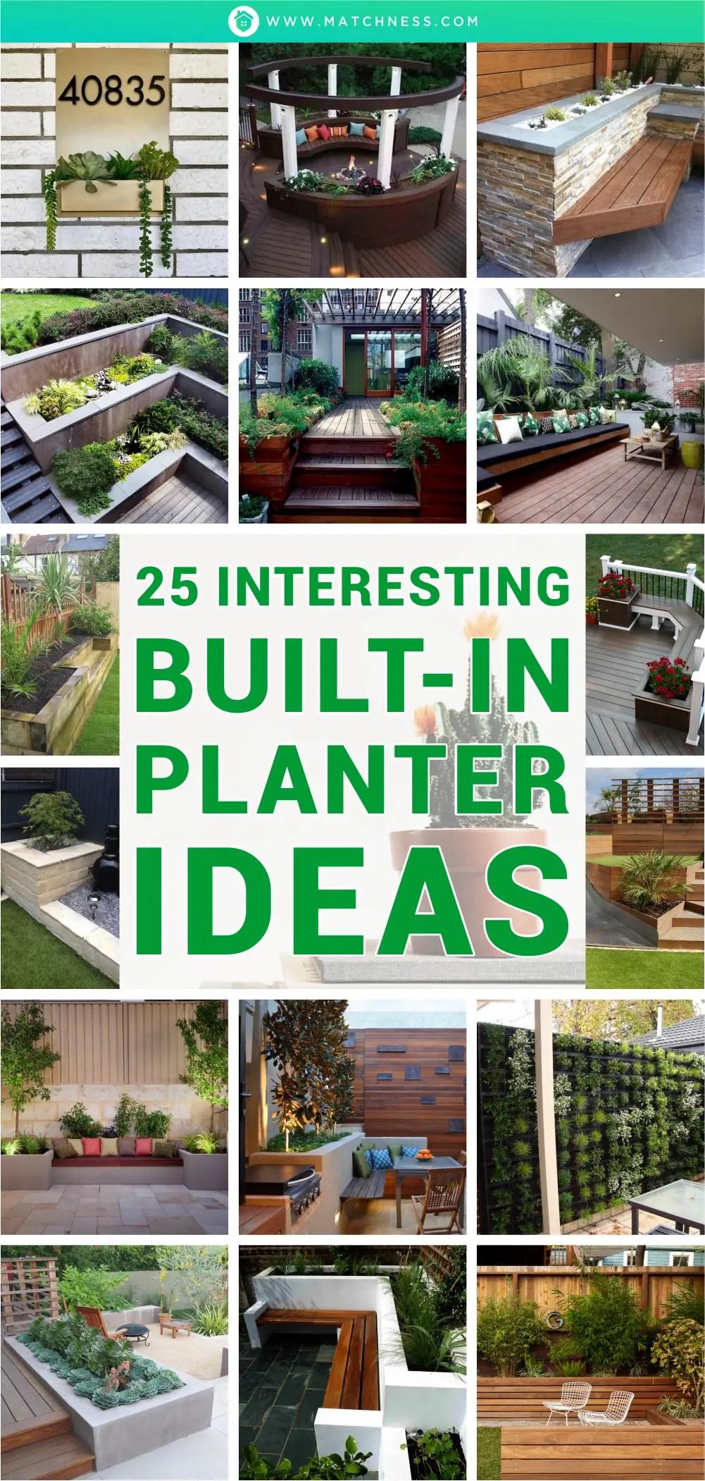 25 interesting built-in planter ideas1