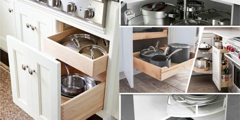 40 kitchen cabinet ideas for your cookware2