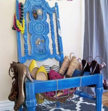 Diy-chair-dresser-shoe-storage
