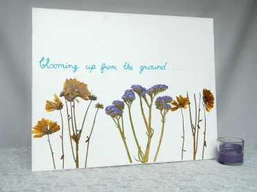 Dried-and-pressed-flower-canvas-wall-art