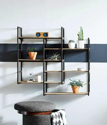 Modern-wood-and-metal-shelves