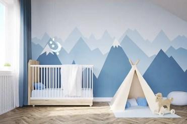 Mountain-murals-theme-baby-boy-room-idea