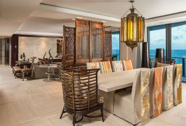 Nifty-room-divider-and-obi-sashes-sewed-to-slip-covers-of-the-chairs-usher-in-asian-flavor