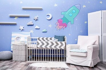 Outer-space-theme-baby-room-idea