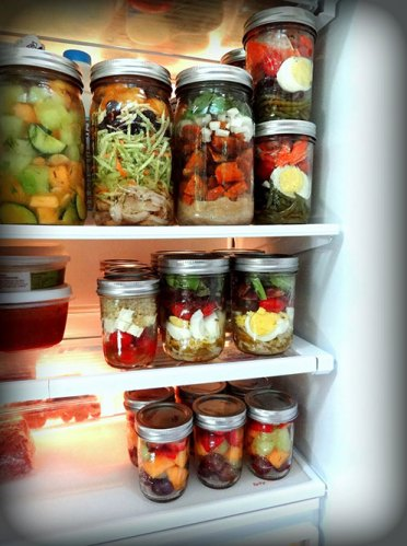 Save-space-by-storing-food-in-mason-jars-instead-of-bulky-plastic-containers