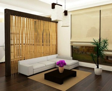 The-wooden-living-room-divider