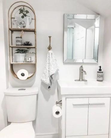 Basement-bathroom-shelf-decor-violets_and_lilacs
