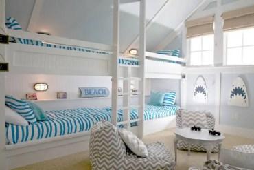 Kids-bedroom-furniture-bunk-beds-poufs-round-table