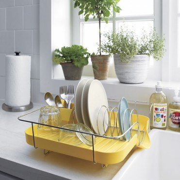 Plastick-yellow-corkscrew-dish-racks