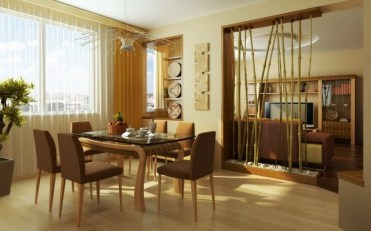 Room-divider-ideas-living-room-bamboo-rods-boulders-nature-decor