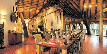 Safari-themed-dining-area