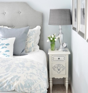 Small-bedoom-furniture-ideas-white-tall-thin-nightstand-bedside-lamp