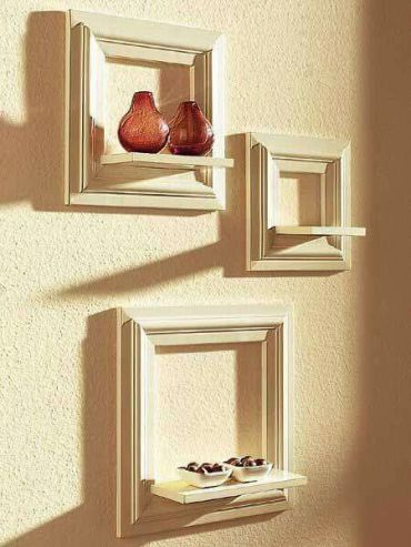 Wall-decoration-from-old-picture-frames