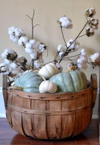 03-a-bushel-basket-with-white-and-green-pumpkins-and-cotton-branches-for-a-neutral-look
