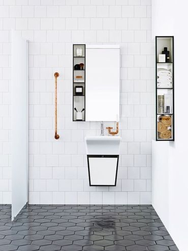 13-square-white-tiles-and-black-hexagon-tiles-contrast-in-the-shape-and-color