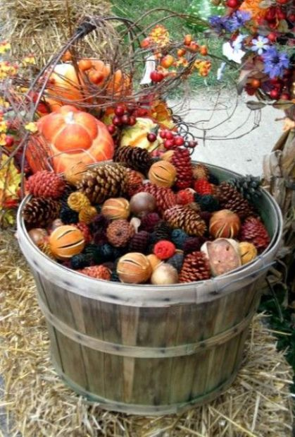 14-a-bushel-basket-filled-with-colorful-pinecones-citrus-and-nuts-is-great-for-outdoor-decor