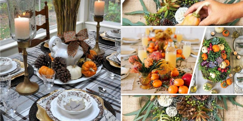 15 harvest fall moon dining table centerpiece designs2