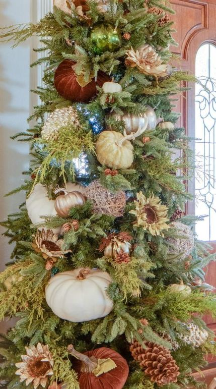 16-a-gorgeous-fall-or-thanksgiving-tree-with-large-faux-and-velvet-pumpkins-blooms-lights-and-metallic-yarn-balls