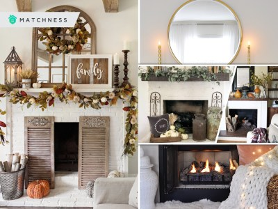 Adding fall touches to your fireplace decorations2