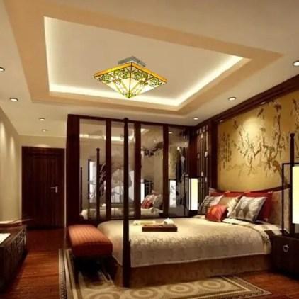 False-ceiling-design-for-square-bedroom