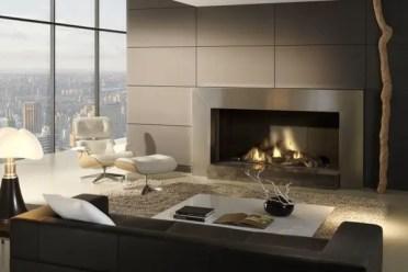 Modern-fireplace-design-ideas-gas-fireplace-stainless-steel-surrounding-loft-design-ideas
