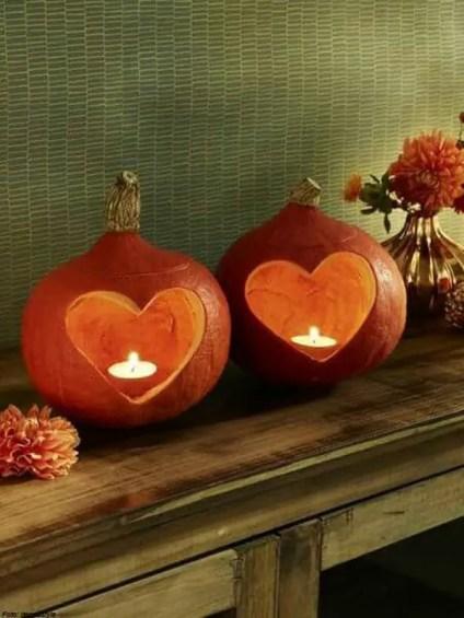 Diy-fall-pumpkin-candle-holders