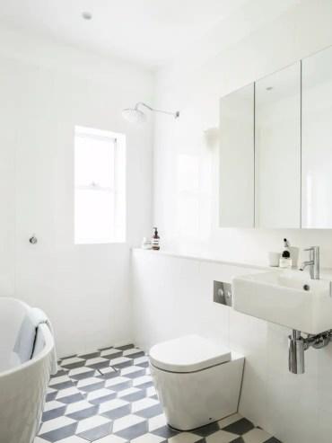 Hexagon-tiles-bathroom-ideas