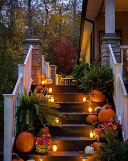 Outdoor-fall-porch-lights-in-the-stairs