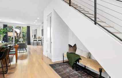 Plush-bench-seat-under-staircase