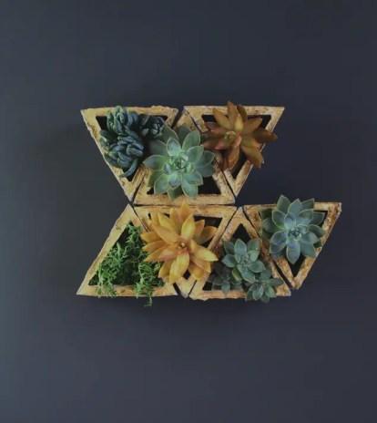 Beton-Modular-Geometrie-Wandpflanzgefäß