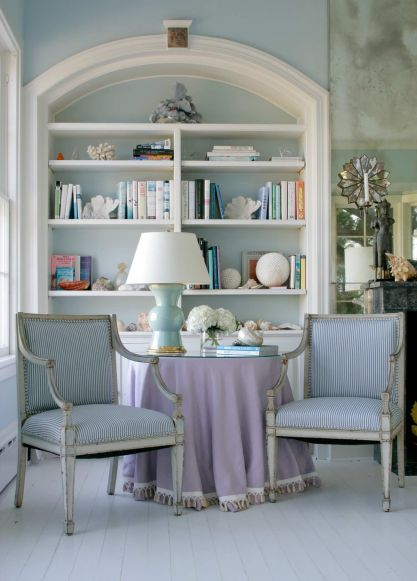 French-country-living-room-blue-ticking-chairs