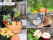 Having fall basket decoration will be awesome to add the season touch2
