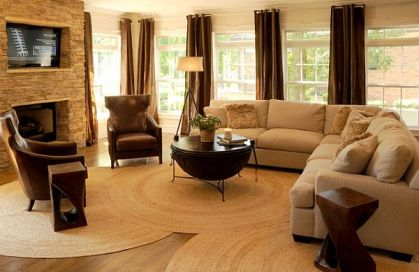 Lounge-area-round-rugs