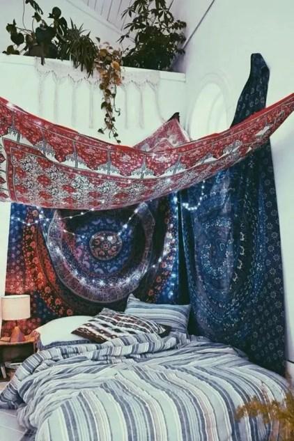 Hippie-Wandteppich-Schlafzimmer-Stile