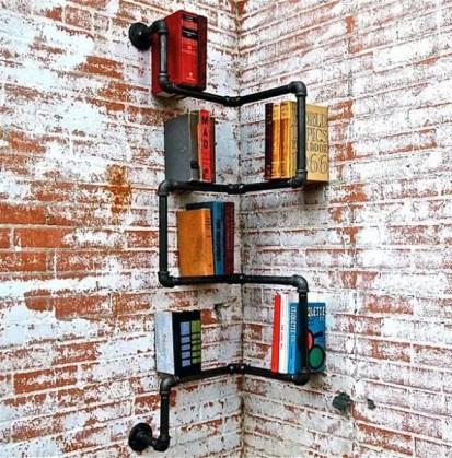 Small-pipe-wall-bookcase-book-stroage-ideas