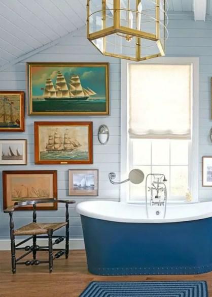 Vintage-Segelboot-Yacht-Kunst-Gemälde-1