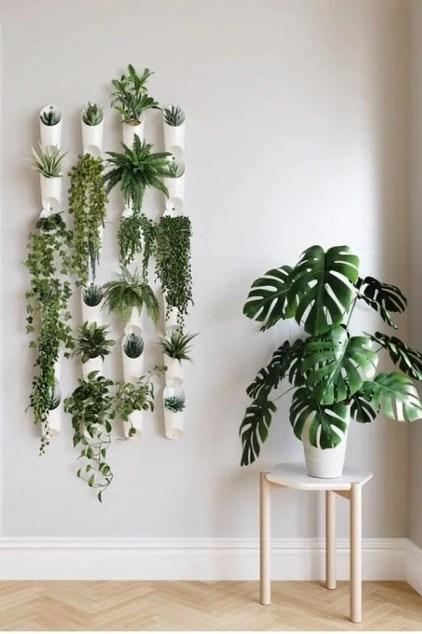 Wand-Pflanzgefäße-vertikal-garten-weiß