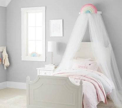White-sheers-tulle-modern-rainbow-cornice-canopy
