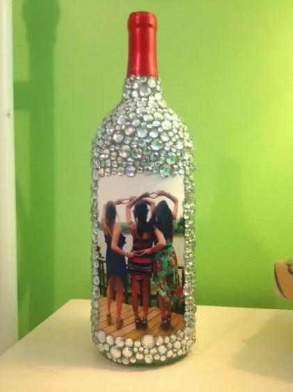 Rhinestone-wine-bottle-picture-frame