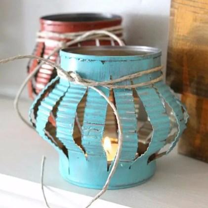 Rustic-tin-can-tea-lights