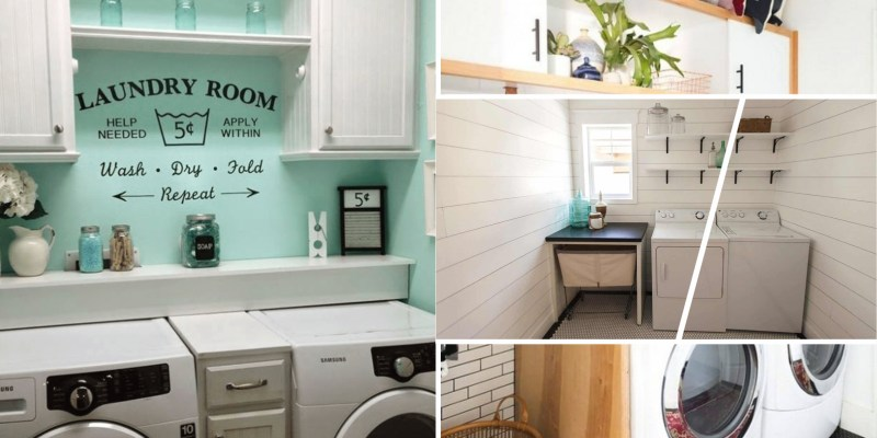 Storage ideas for laundry room