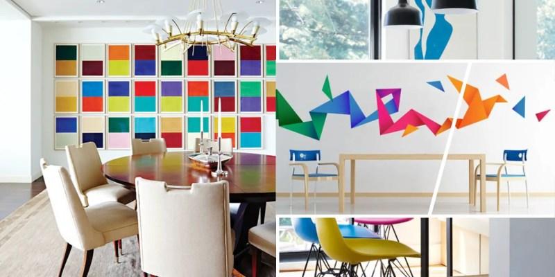 Clorful but minimalist home decorations