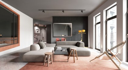 Large-interior-window-red-rug-artistic-living-rooms