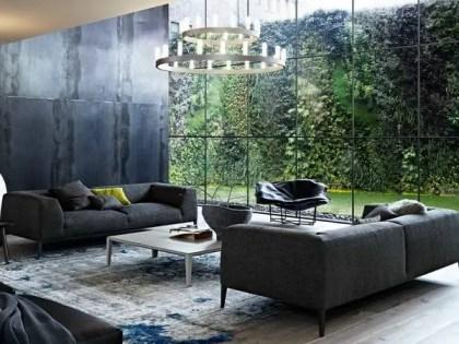 Modern-living-room-design-furniture-ideas-gray-sofa-set-large-chandelier